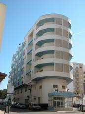 architecture exteriors hotel portugal pastel rounded flat