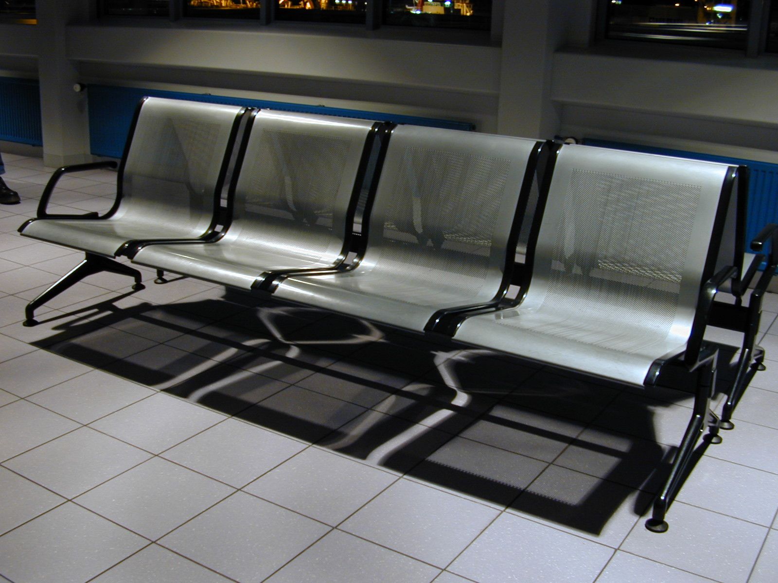 Image After Photos Bench Benches Airport Waiting Room Metal Iron Modern Grates Chair Chairs