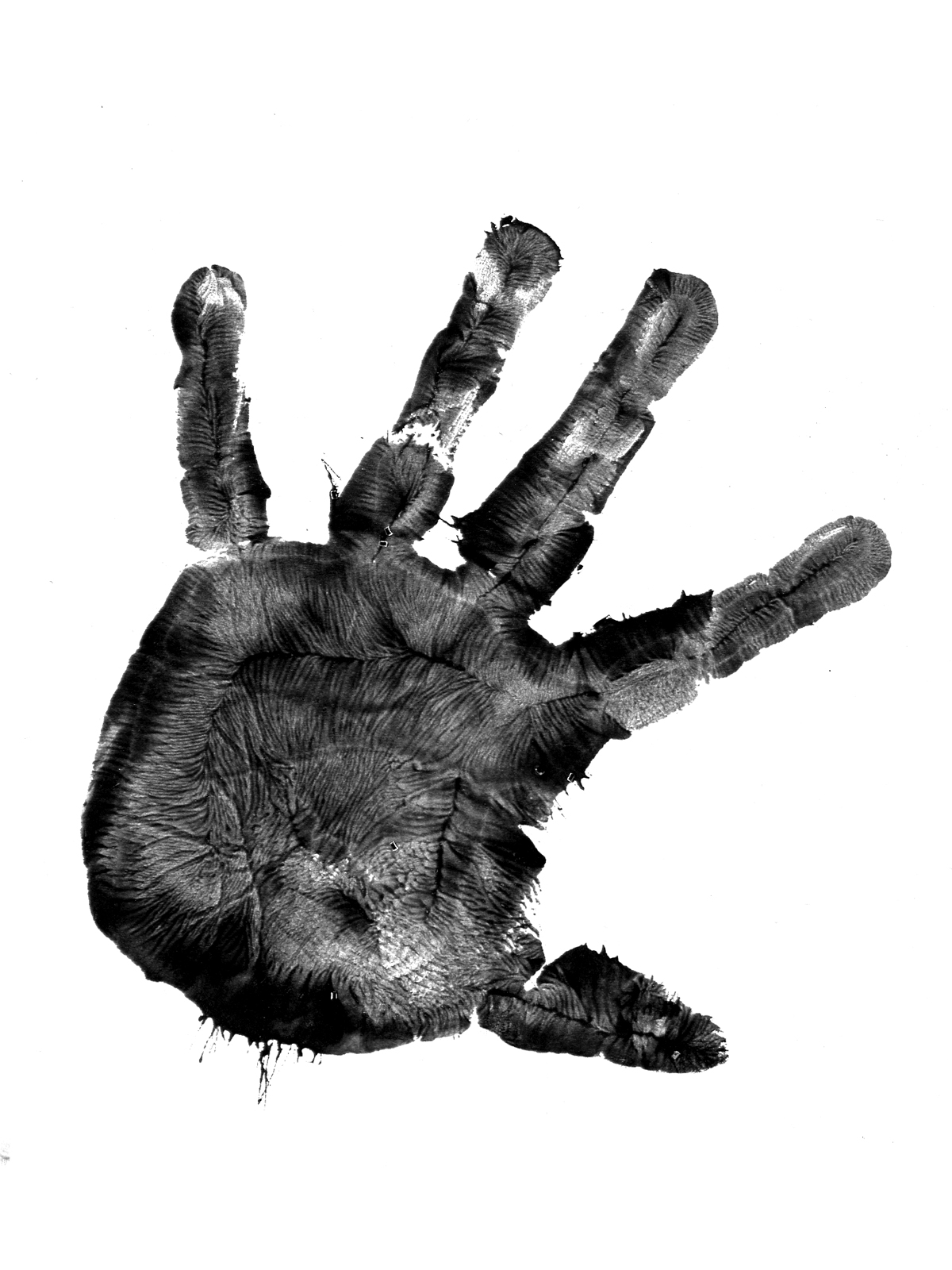 image after image handprint paint fingerprint print finger print