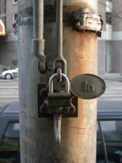 mechanics handle lock objects padlock metal pole