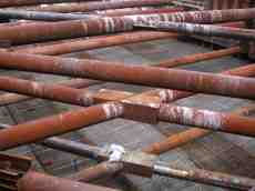 steel beams construction rust metal brown