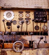 dials levers keys switches rust pressure knobs