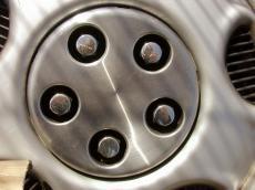 wheel cirkel steel car plastic five silver