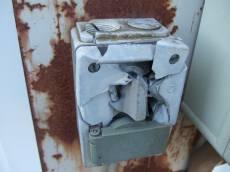 tabus broken switch electricity white screws
