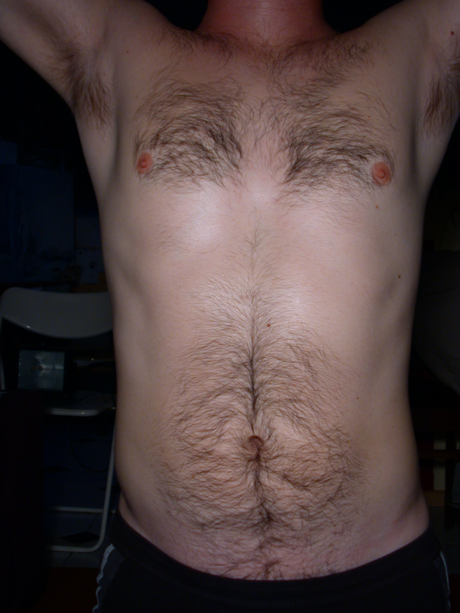 With Hair On Stomach Hairy Belly Man Stock Photo