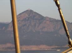 j_d mountain sail ship boat water