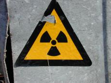objects signs radioactive sticker torn yellow black warning symbol