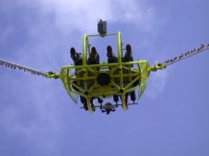 catapult bungy people fairground attraction