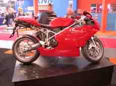 ducati 749 red motor cycle bike expo