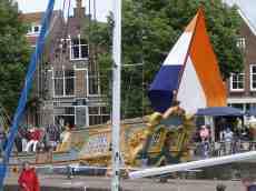 diederik flag dutch netherlands village boat tallship stern utrecht