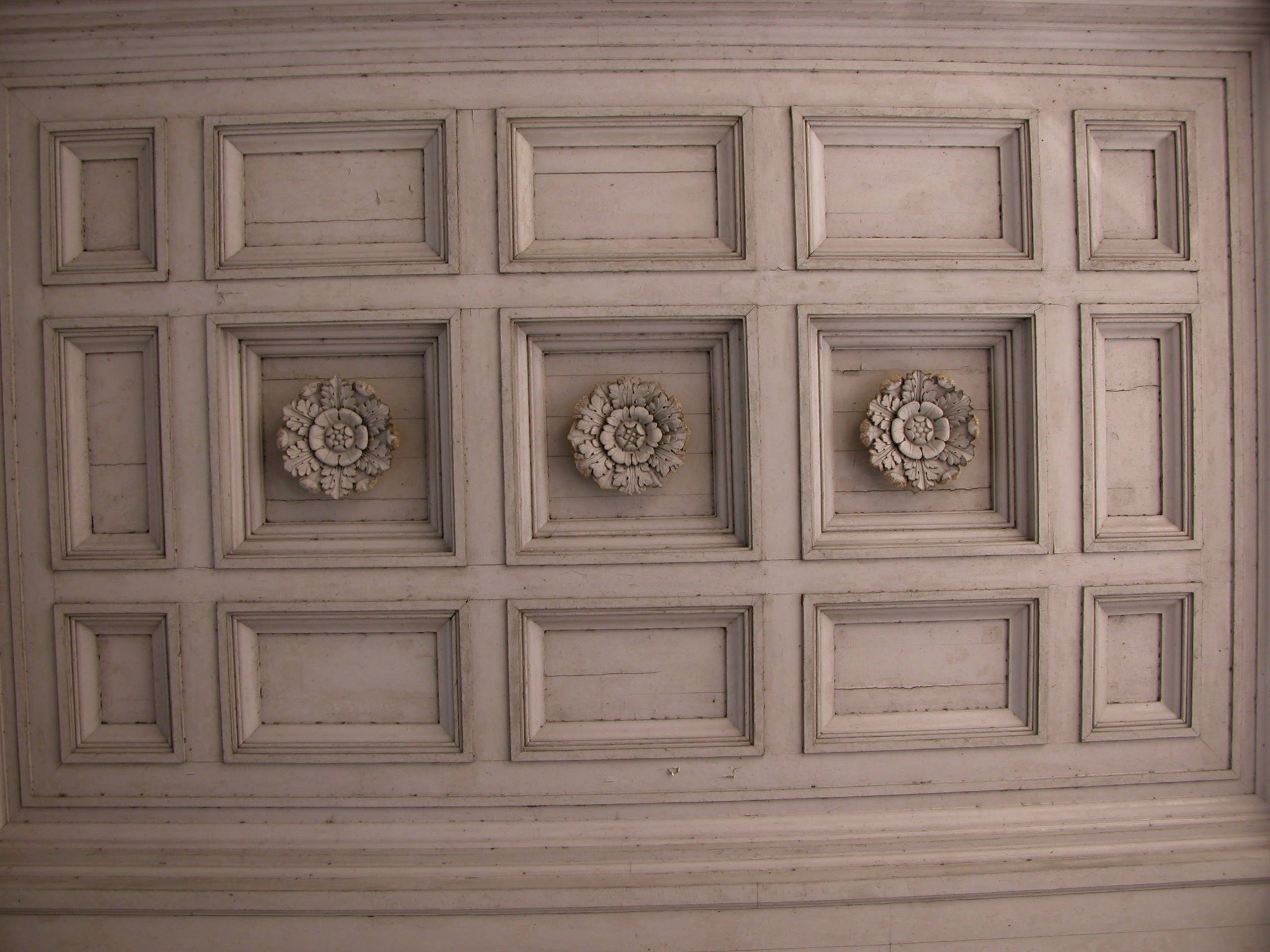 Square Wood Ceiling Pattern