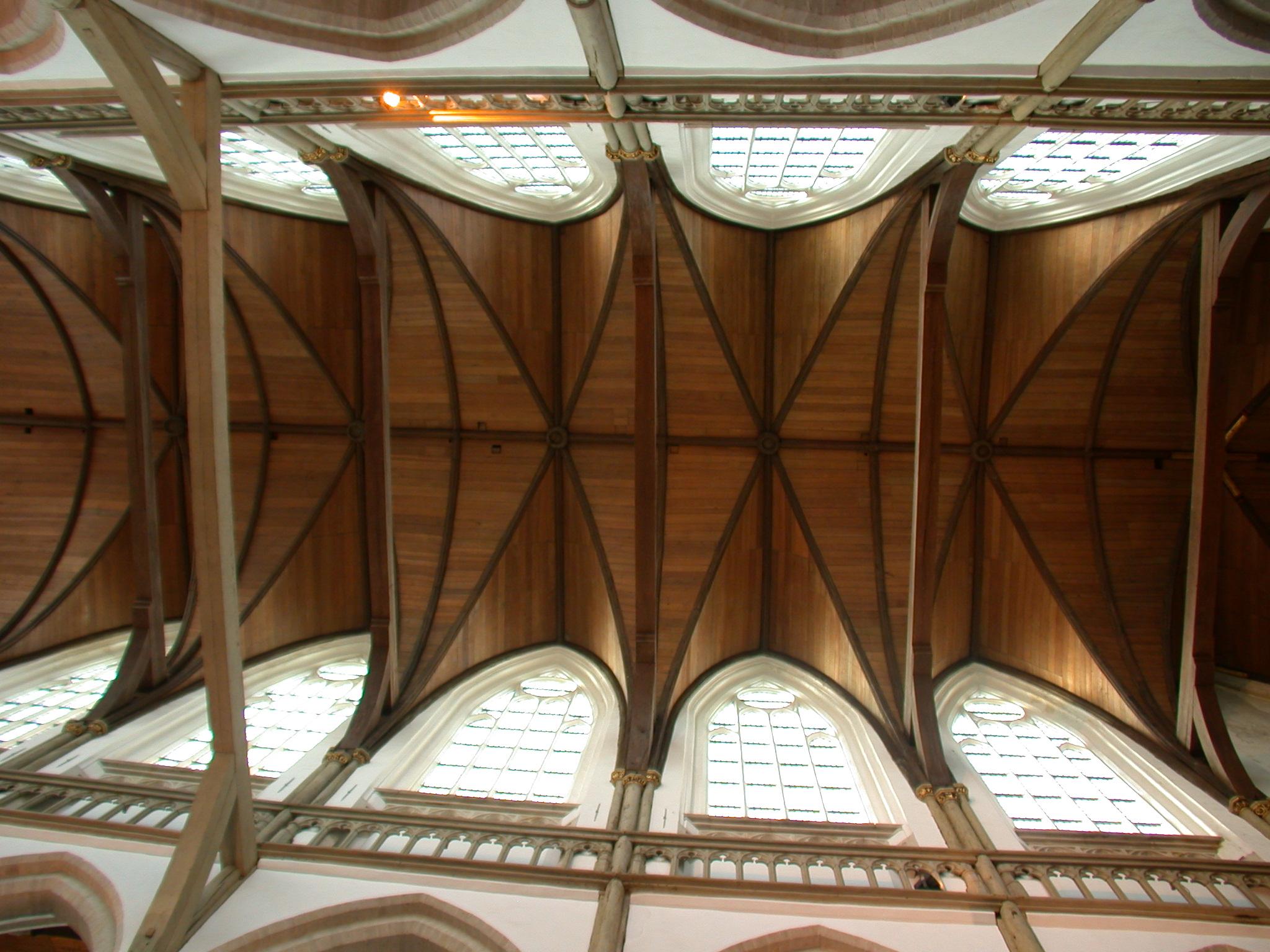 Church Roof Wood Beams Ceiling
