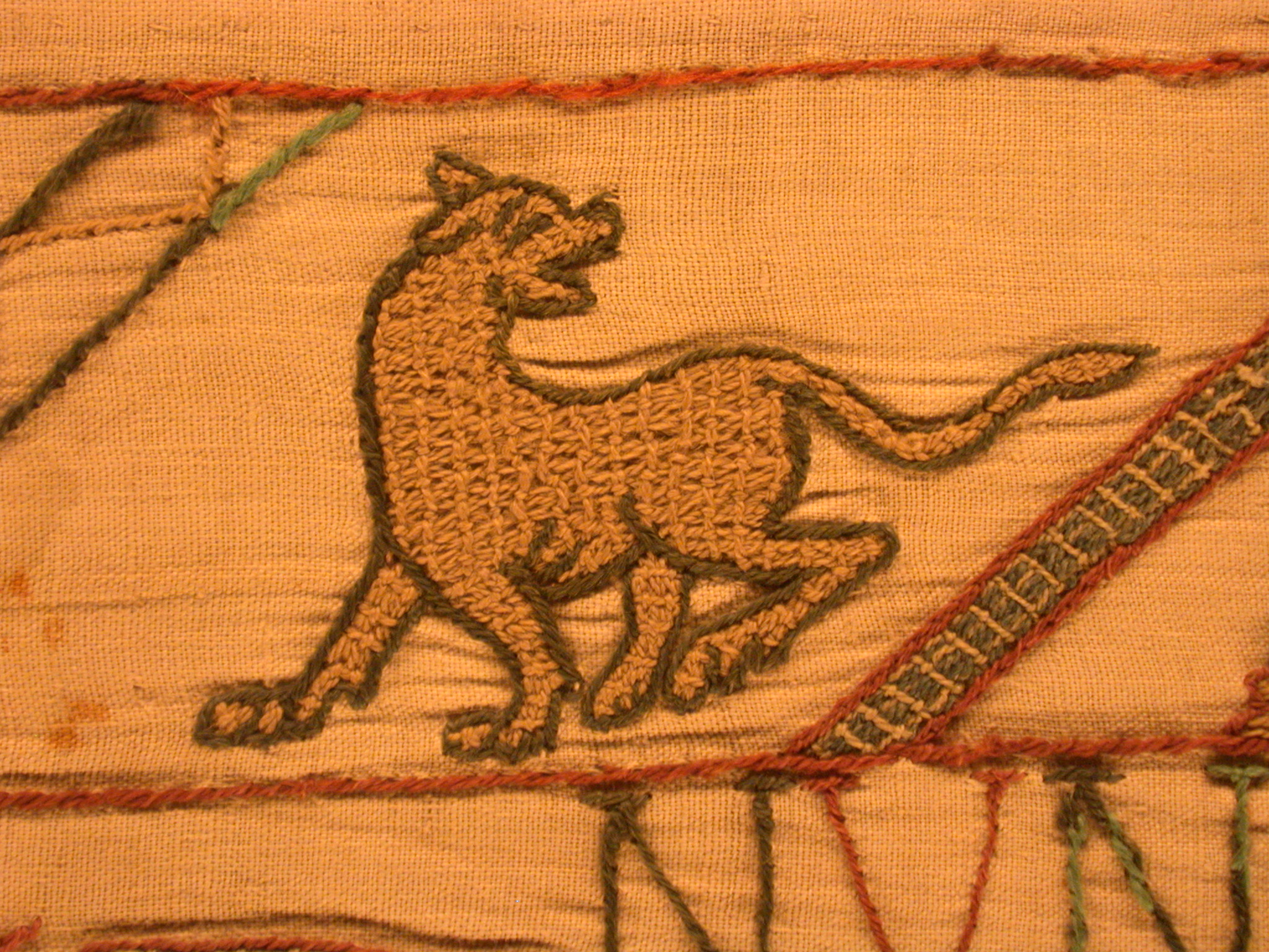 Image After Textures Medieval Tapestry Dog Stitches
