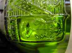 mcmath glass beer bottle green transparant