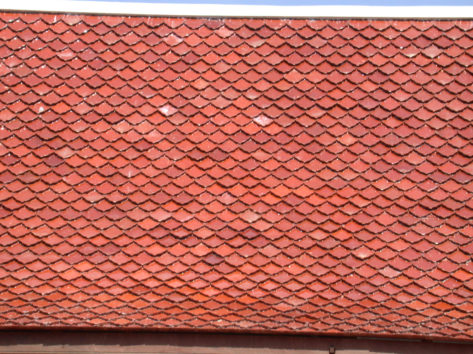 Image after texture roof tile tiles roofing red slope for Roof tile patterns