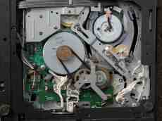diskdrive old internal mechanism gears servo