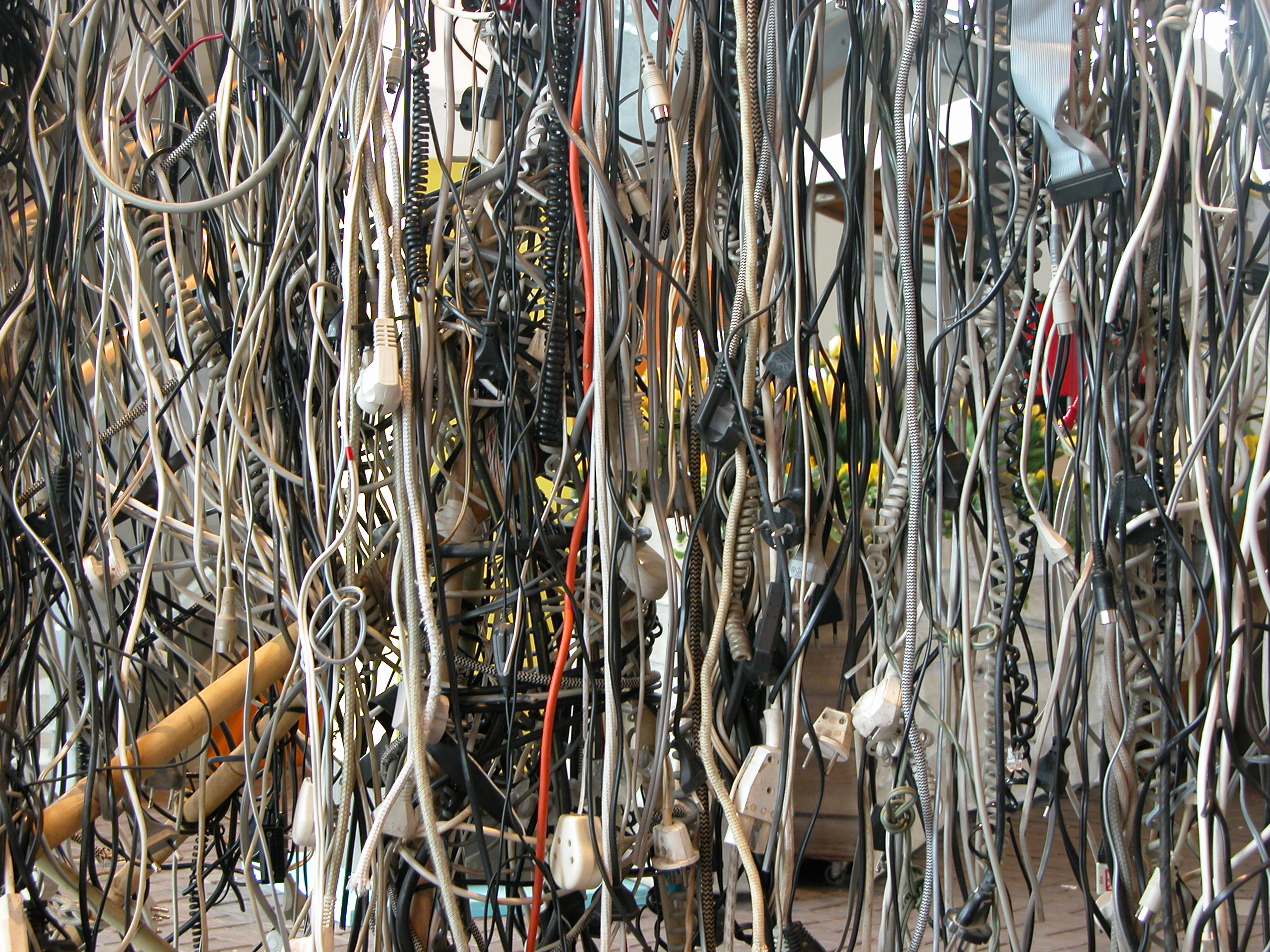 Image*After : textures : all kinds of wires plug plugs hanging ...