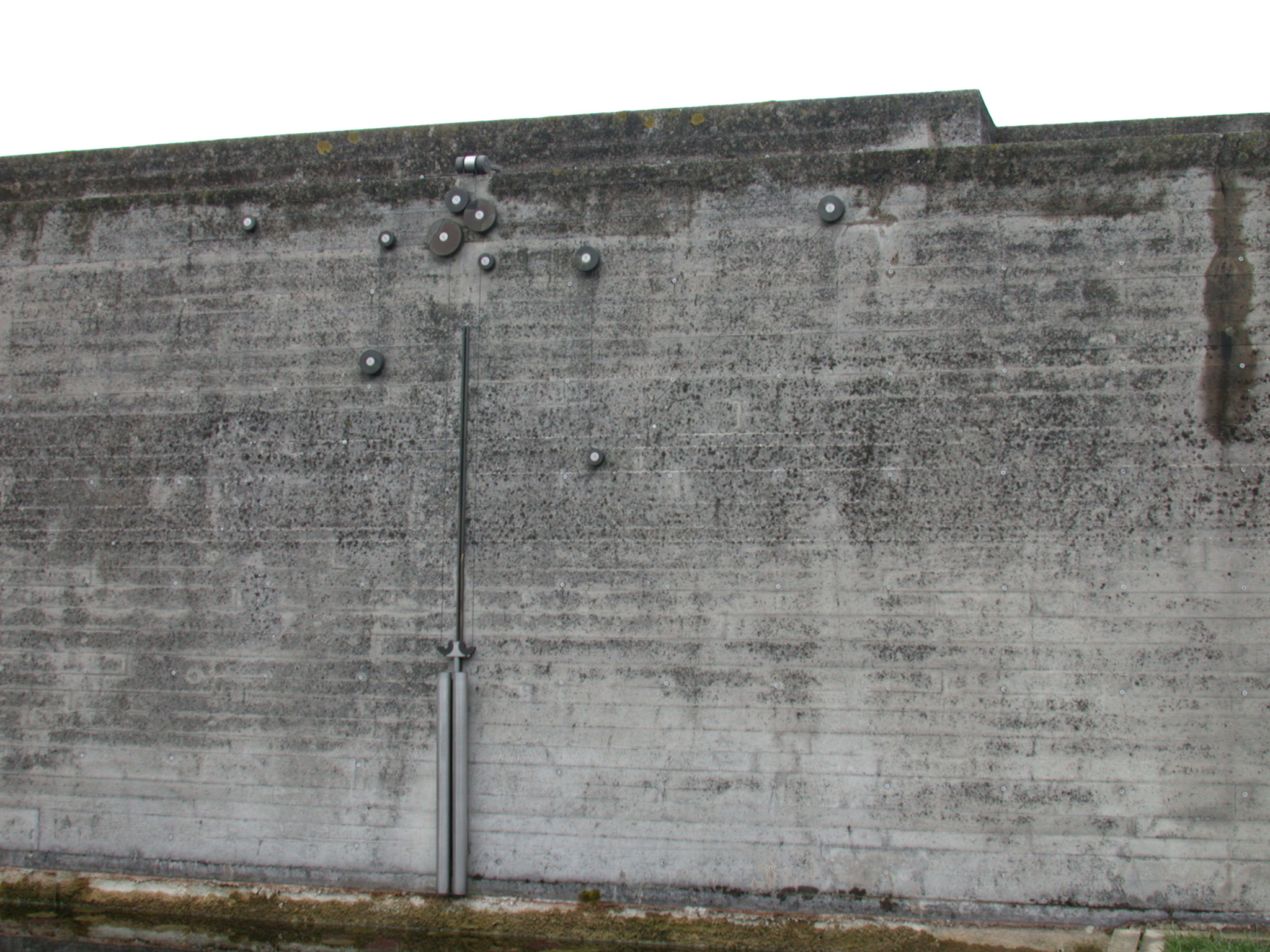 Image*After : textures : bunker wall concrete trolly wheels wire artwork