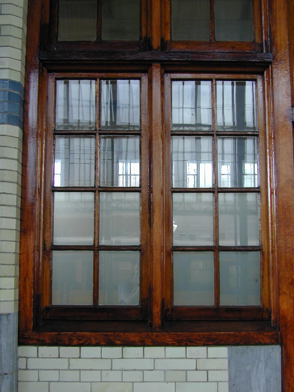 Image*After : texture : walls windows haarlem station wood ...