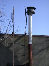 pipe chimney wall ladder