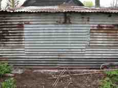 shed tin panelling iron aluminium rust rusting rusted