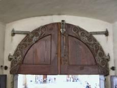 wooden decorated door