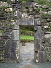 wall door entrance texture ancient mediavel mediaval ruine moss ferns overgrown walls rough