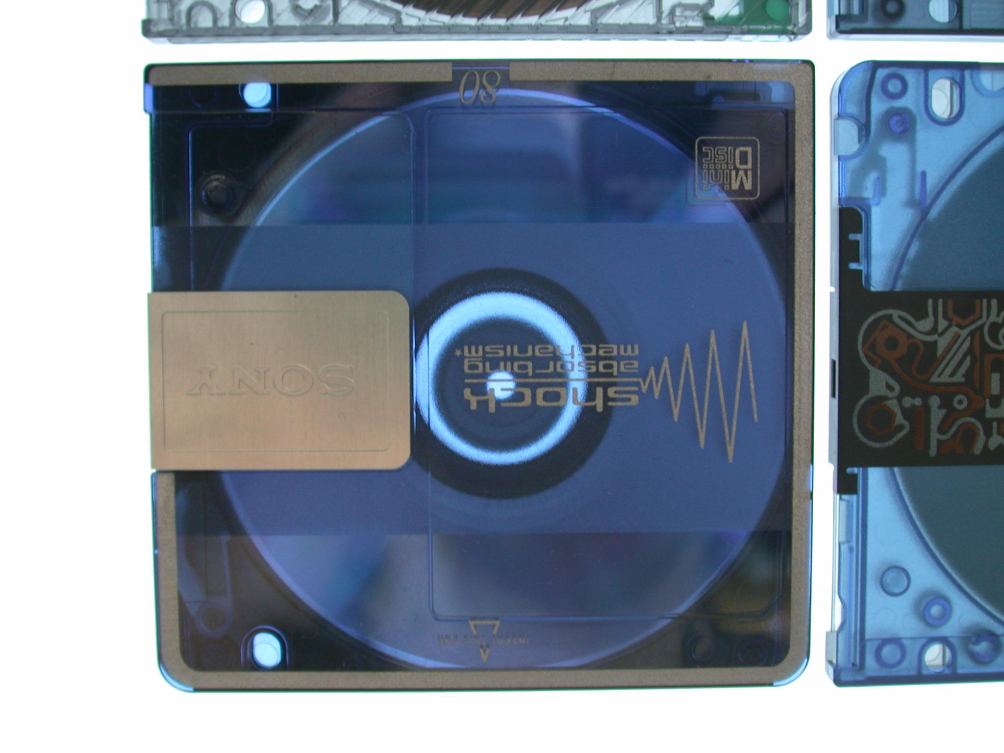 objects disc minidisc sony storage