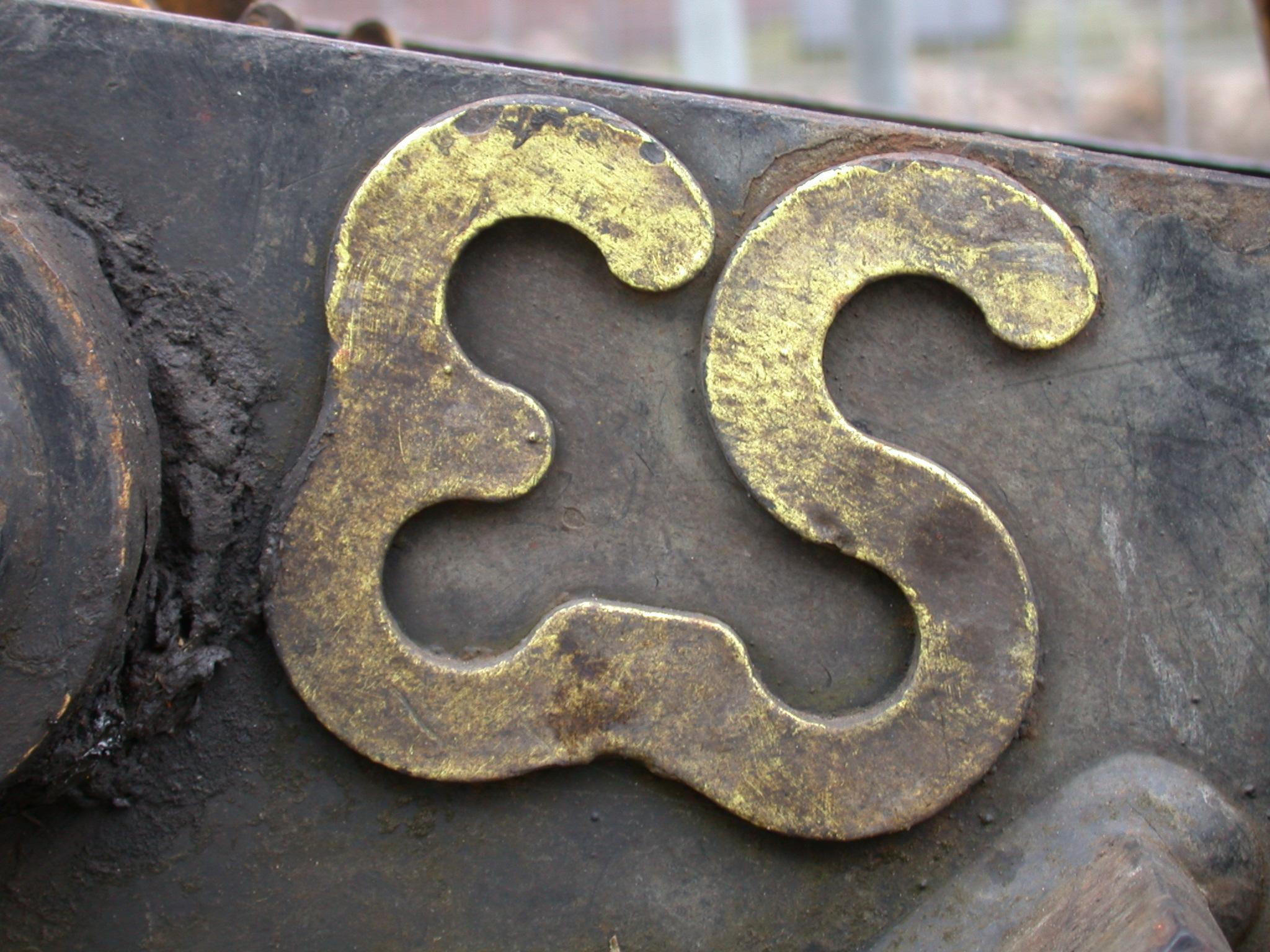 sign number gold golden e s letter letters