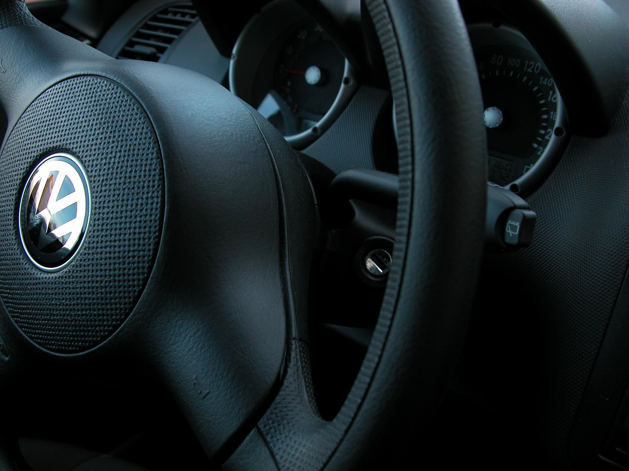 wheel steering steeringwheel volkswagen black interior dashboard soft grip