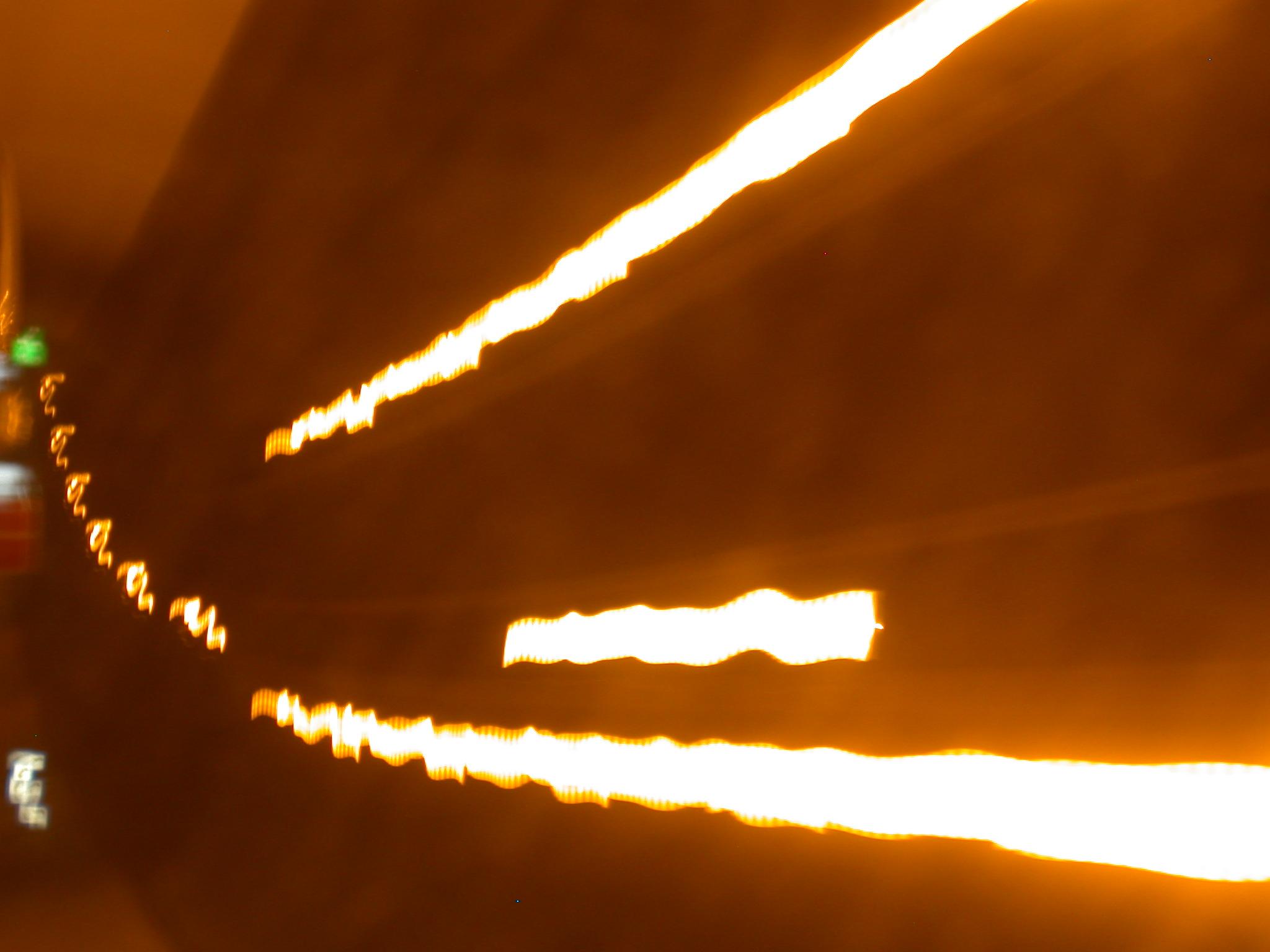 streaks of light orange speed