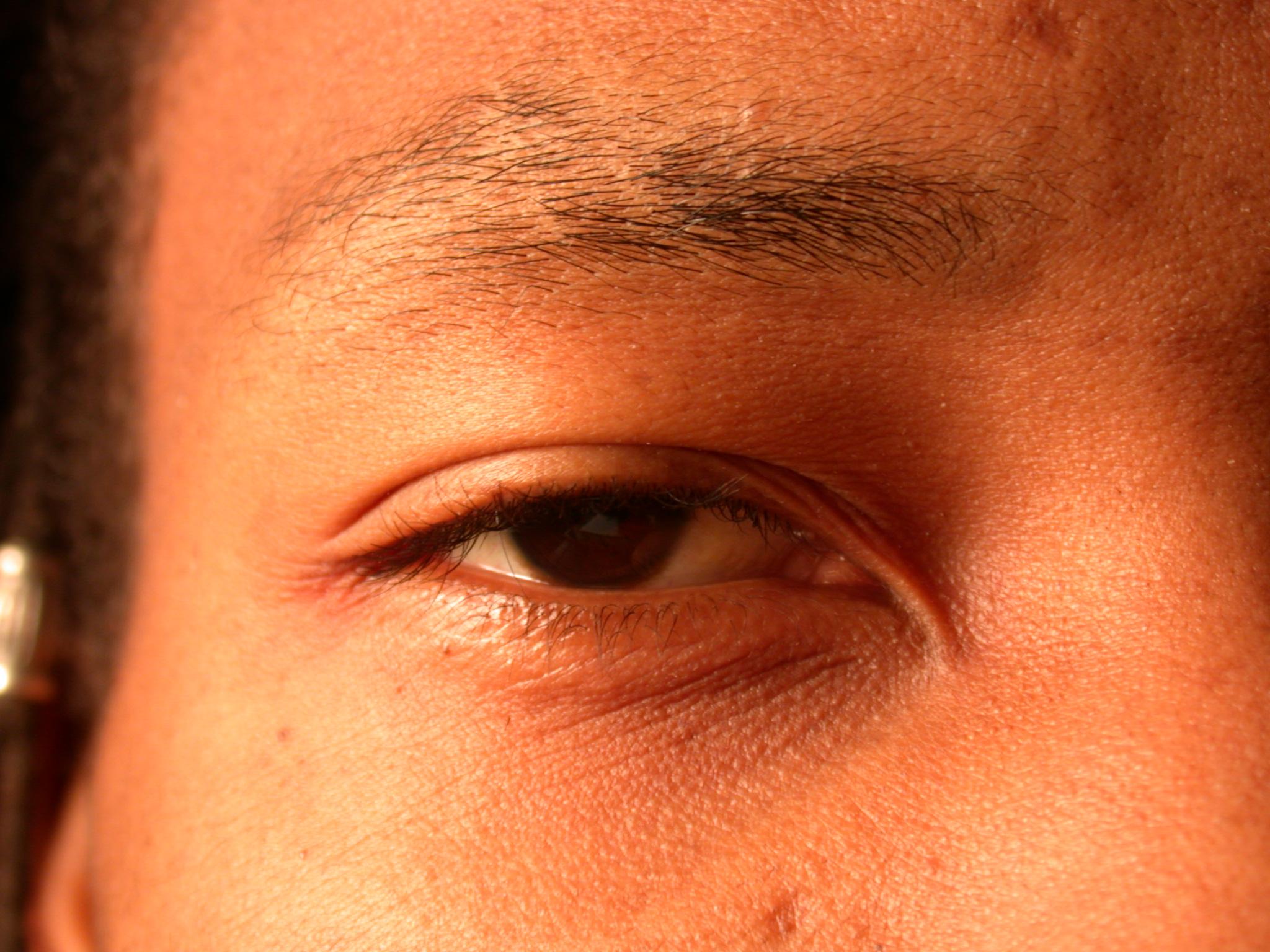 nature characters humanparts eye pupil iris hair eyelash lash brown negro eyebrow brow skin texture
