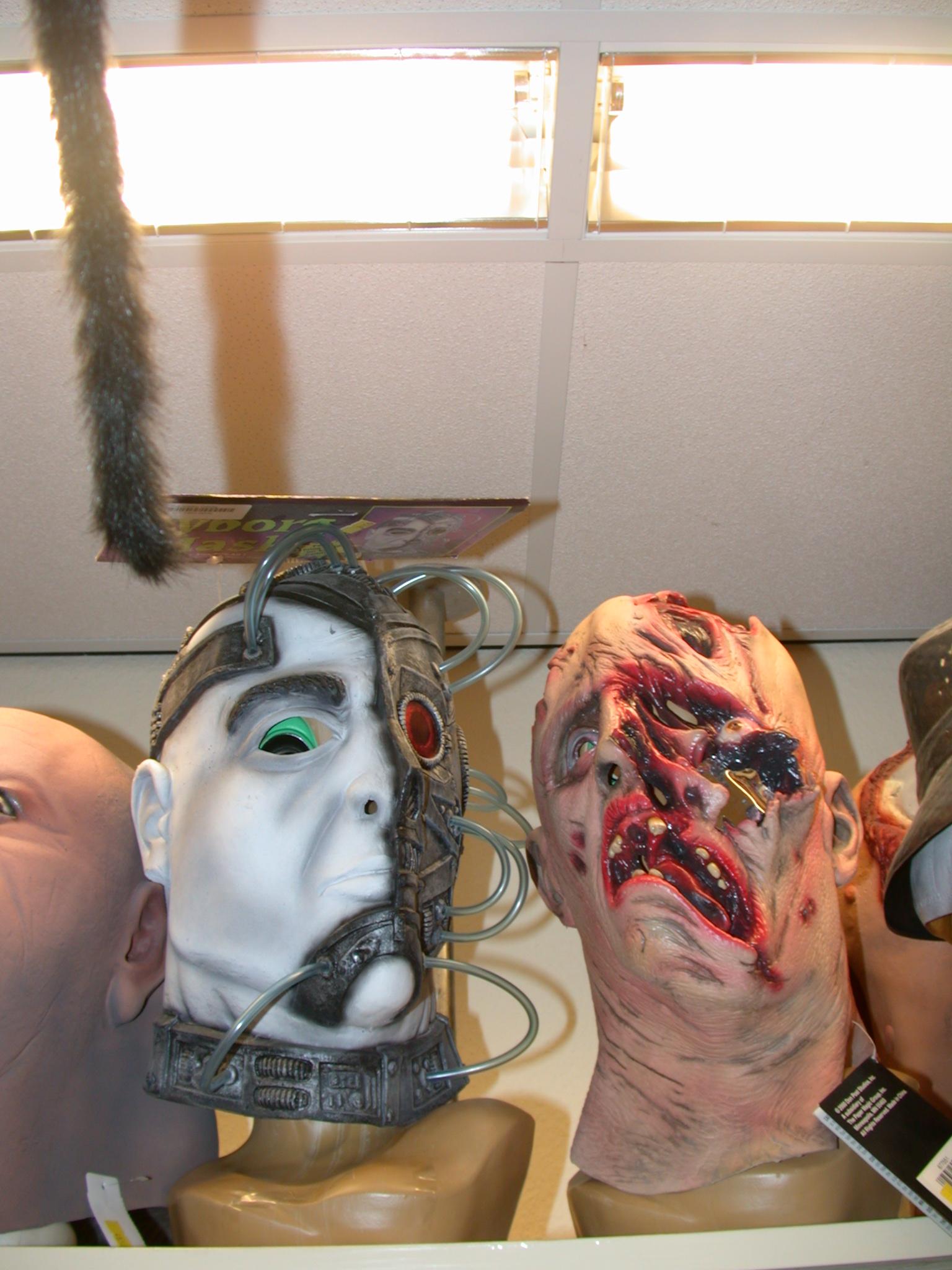 mask monster monsters plastic halloween zombie borg jean-luc picard locutus star trek