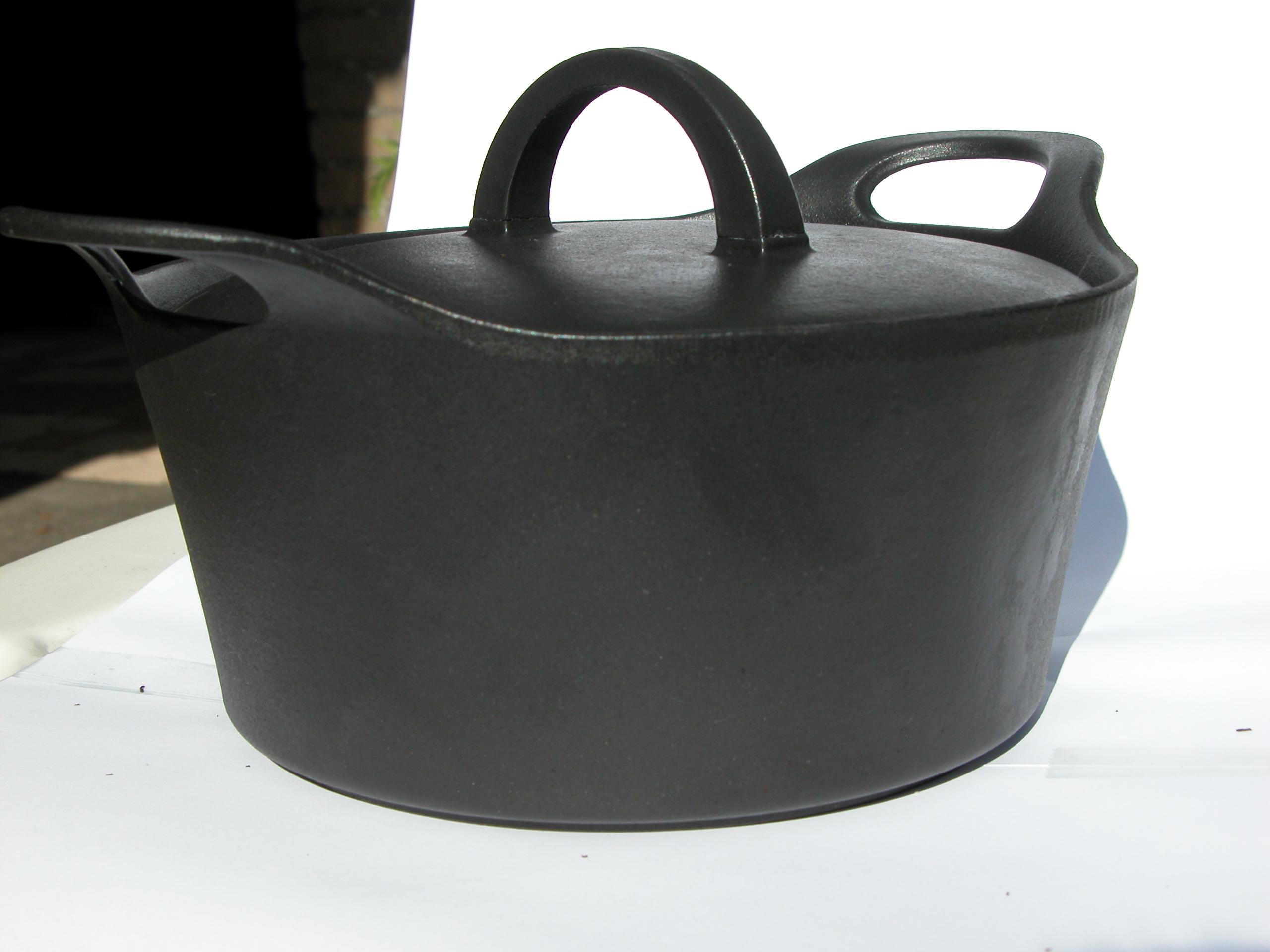 pot calling the kettle black heavy wrought-iron dark