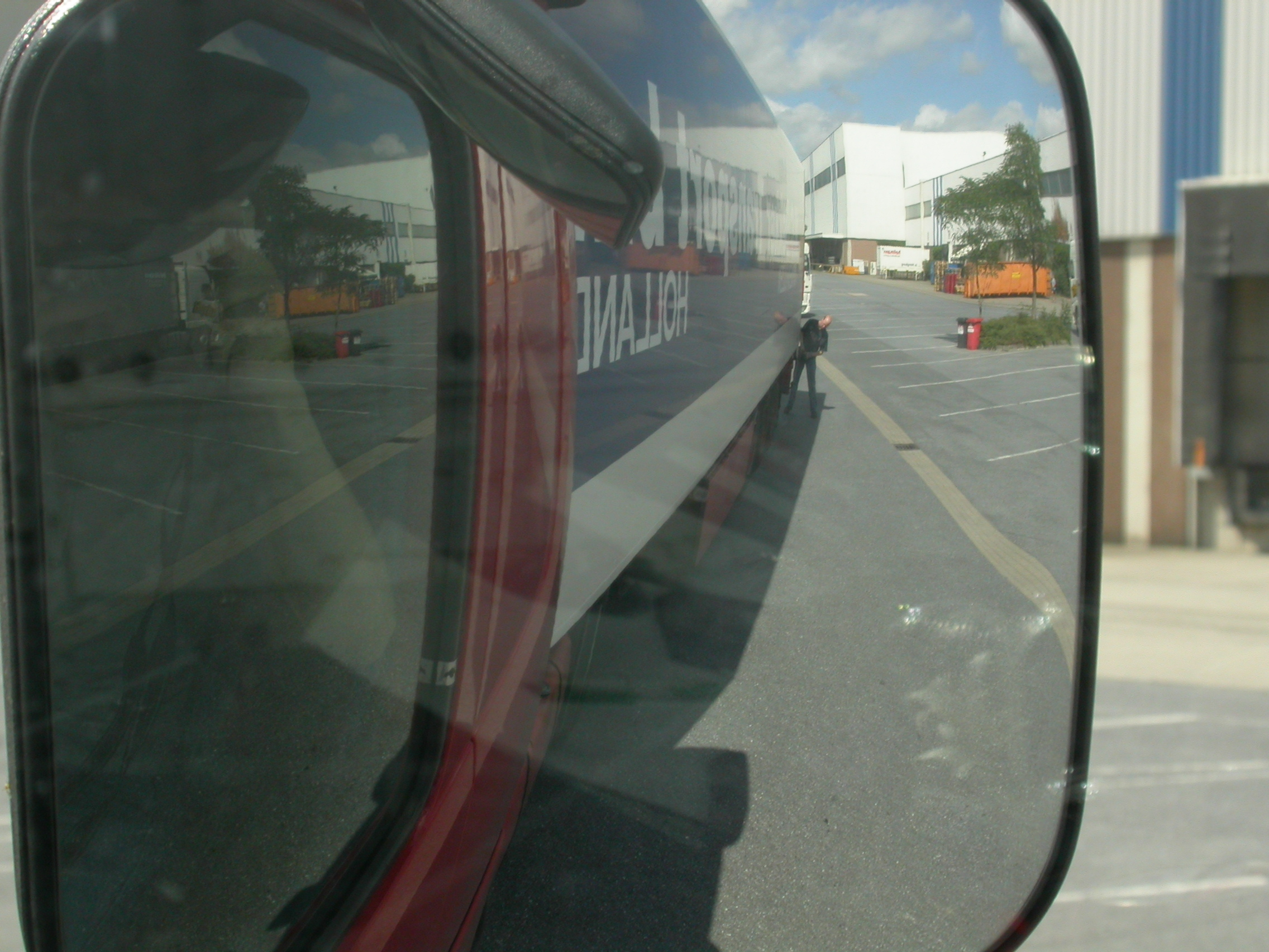 vehicles land truck mirror freight human loading reflection royalty