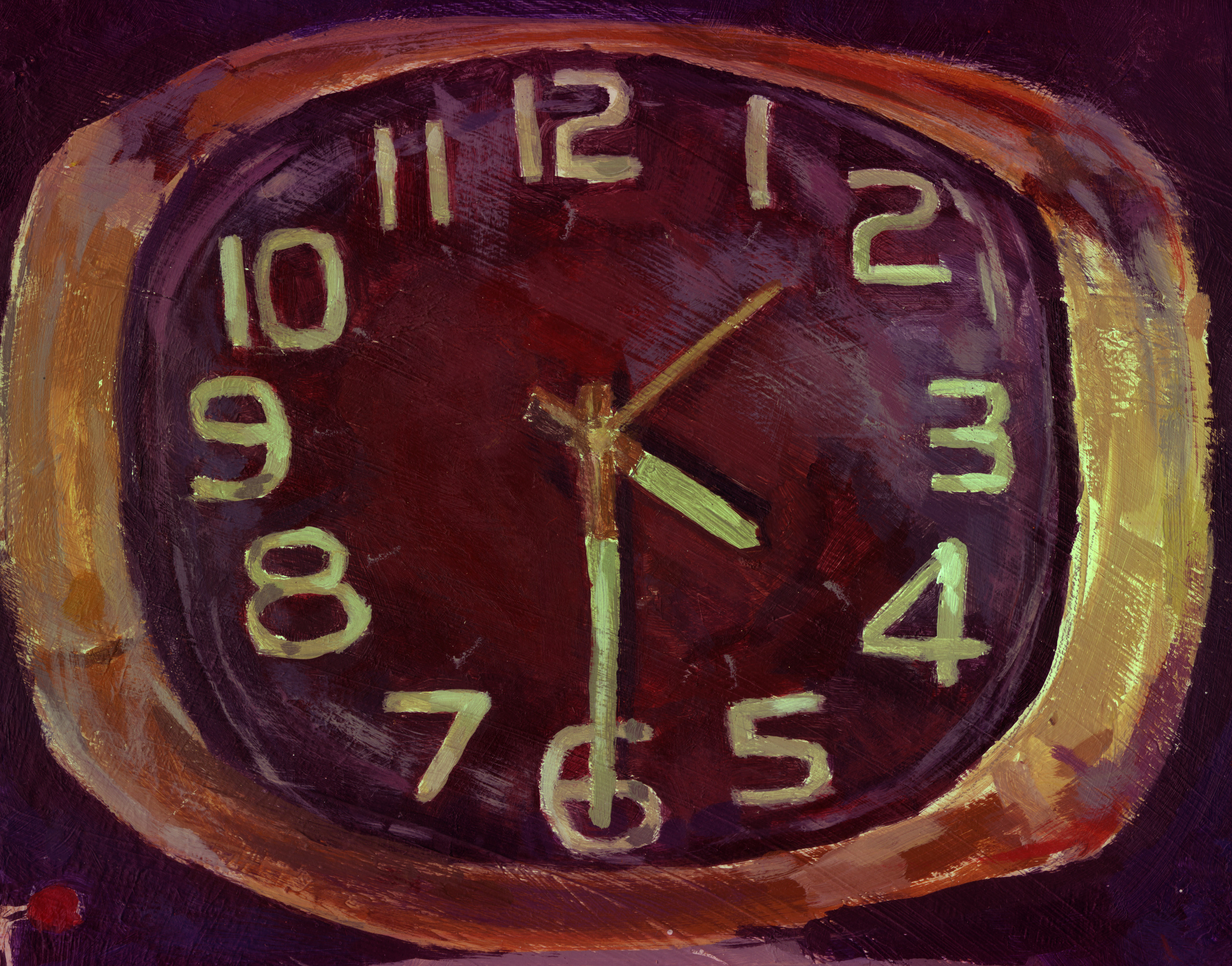 painting of a clock number numbers sketch shane shanesscan art artistic hires