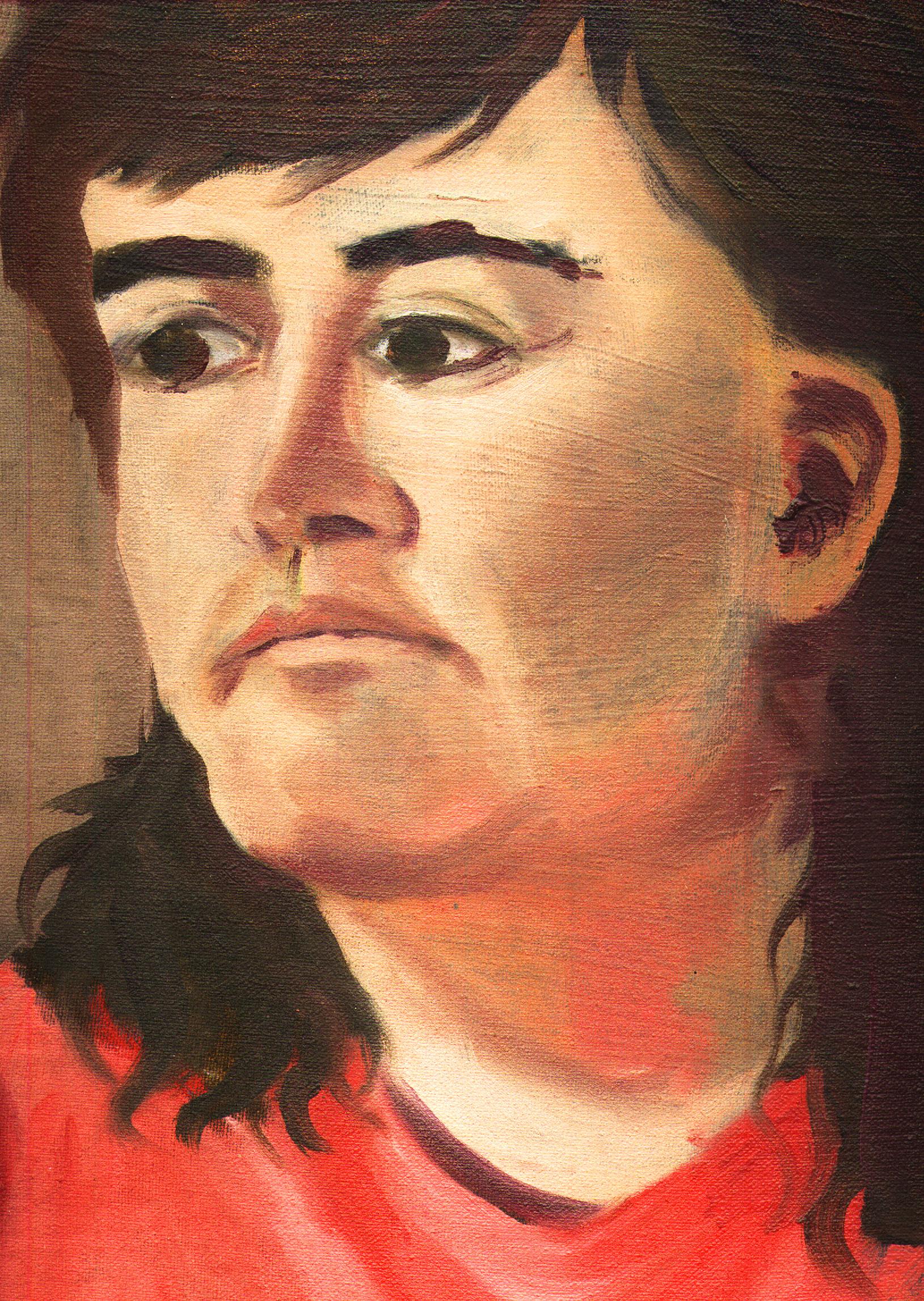 art painting face human woman shanescanlan sad