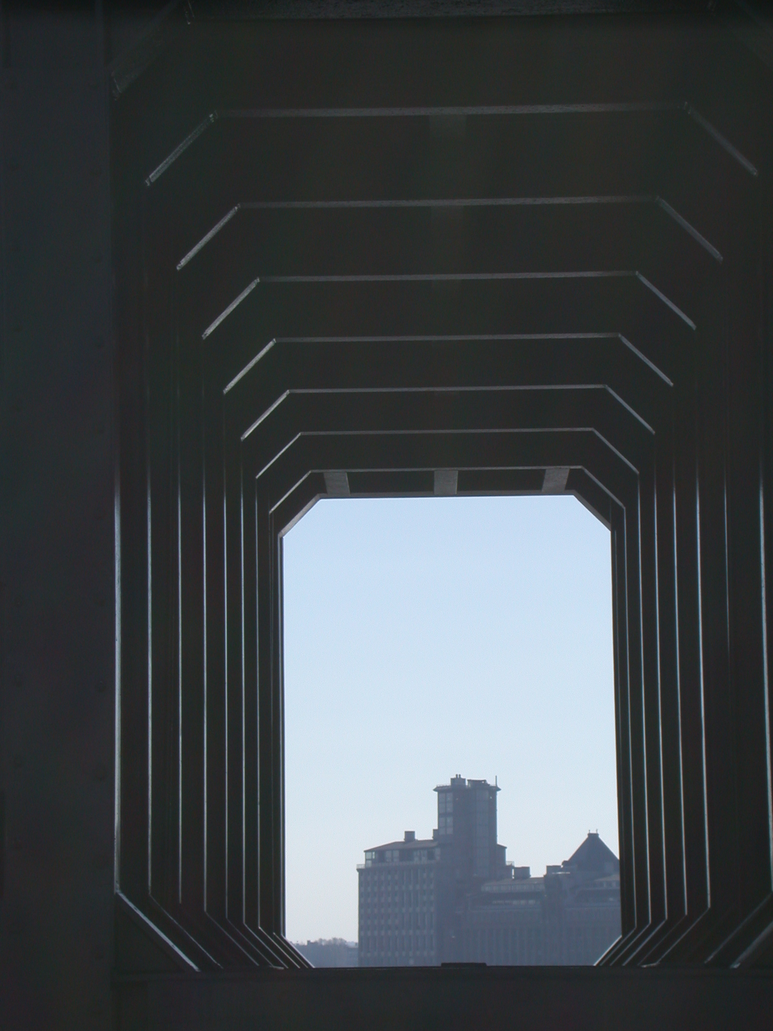 hall hallway building hexagon futuristic black walkway tunnel