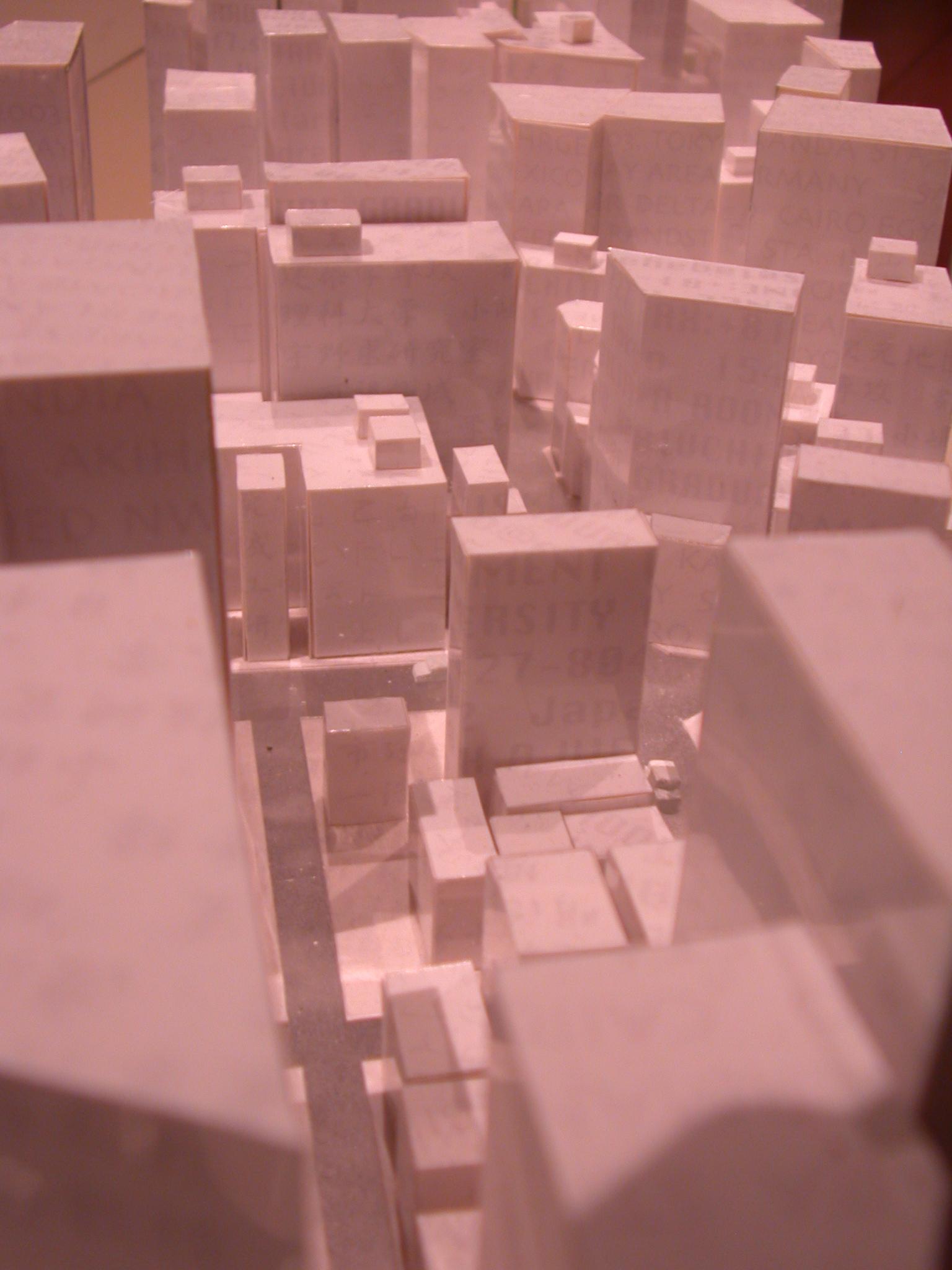 maquette architecture exteriors city cityscape flats art sculptures white boxes