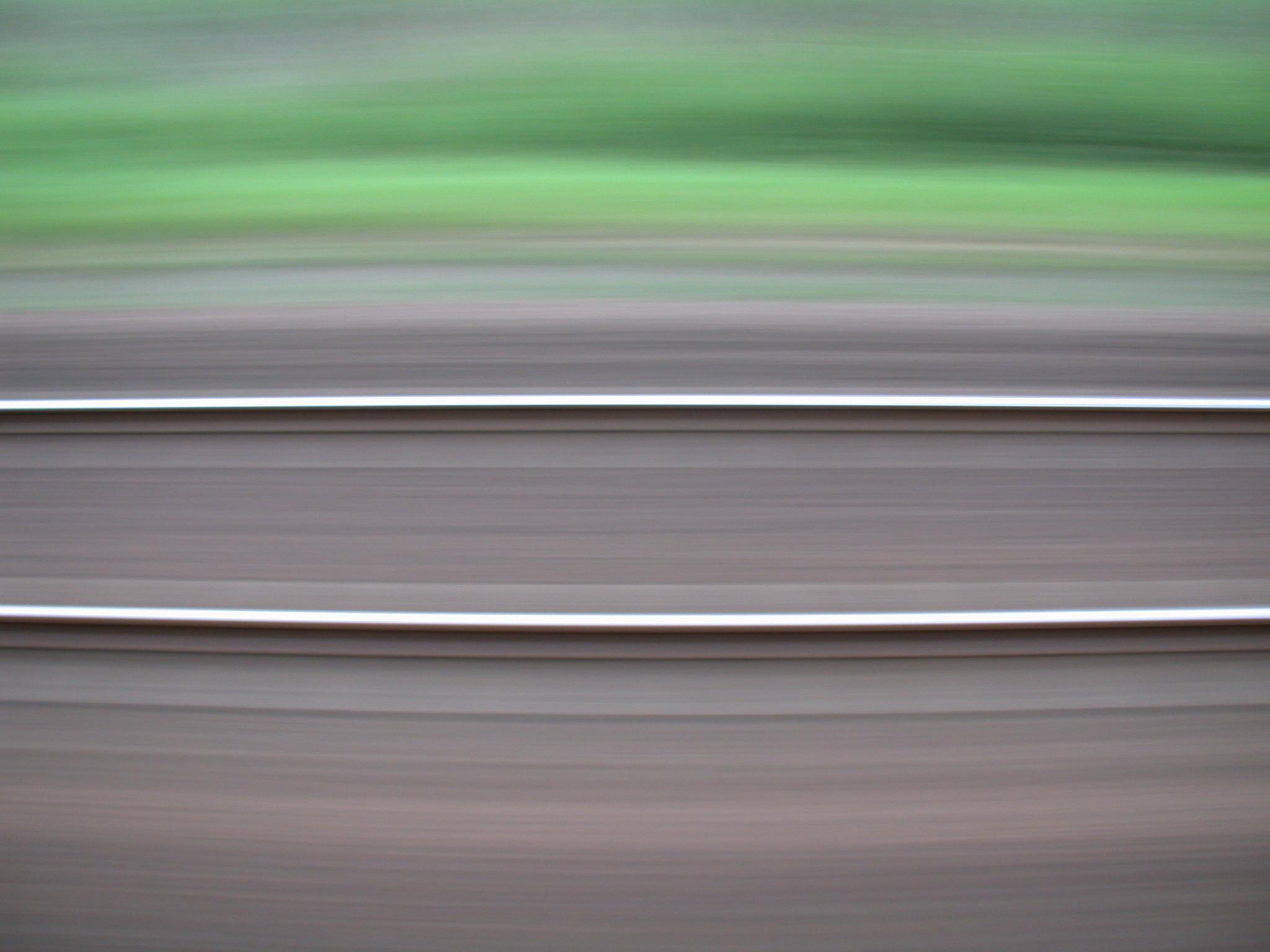 rail track traffic railroad speed blur blurs horizontal lines