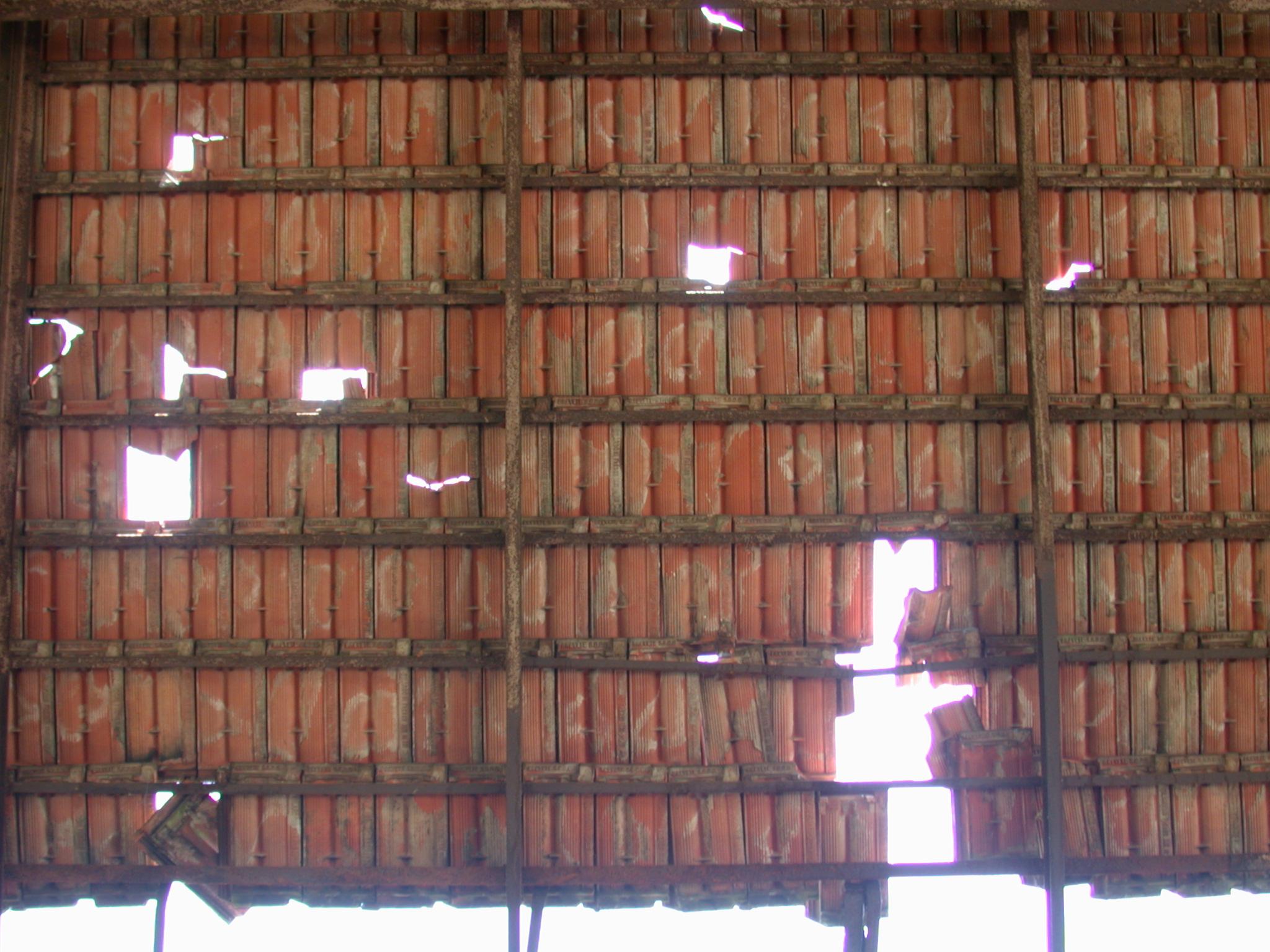 wall hut african holes bamboo sun shining