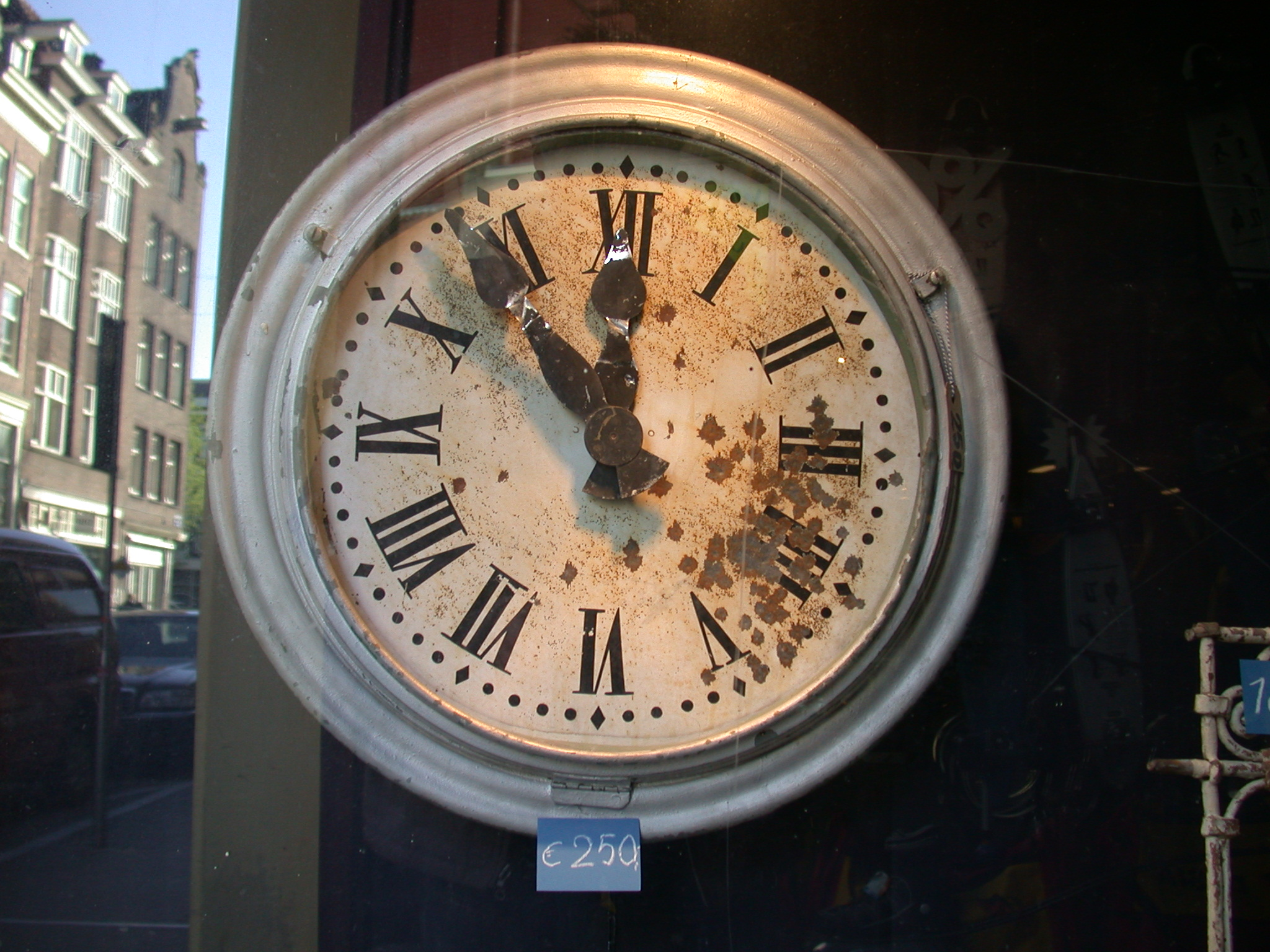 clock antique old roman numerals shop 250 euro euros worn