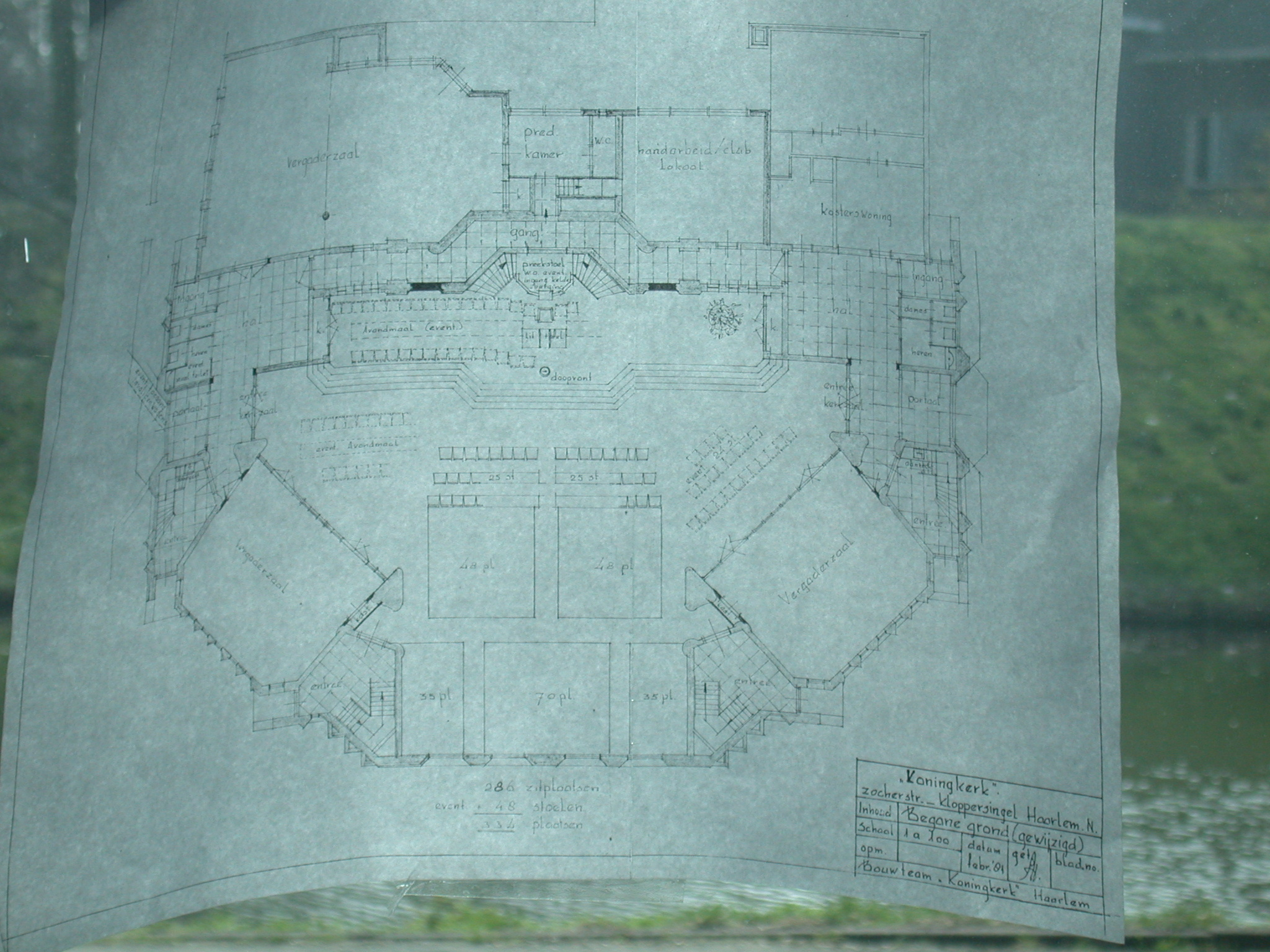 scripts koningkerk disaster map buildingplan blueprint blueprints drawing paper plan plans