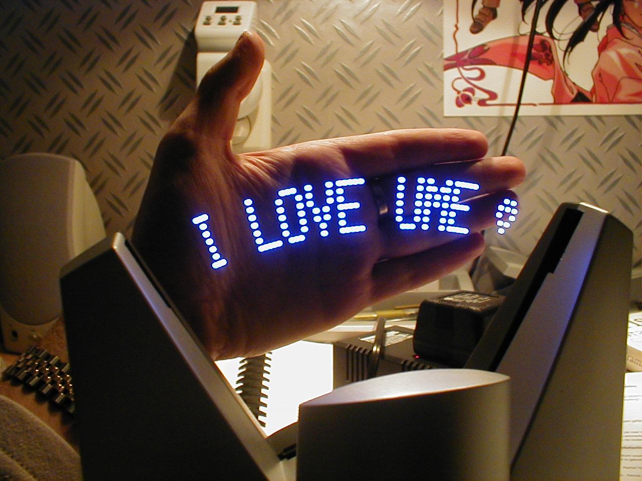 i love you blue led banner gadget light sign dario