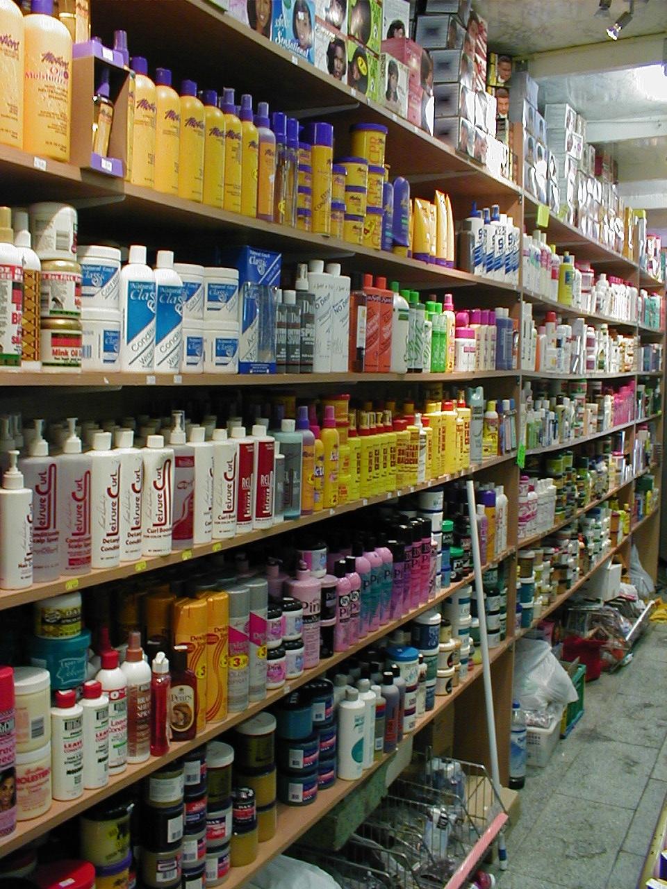 dario shop interior shelves products isle