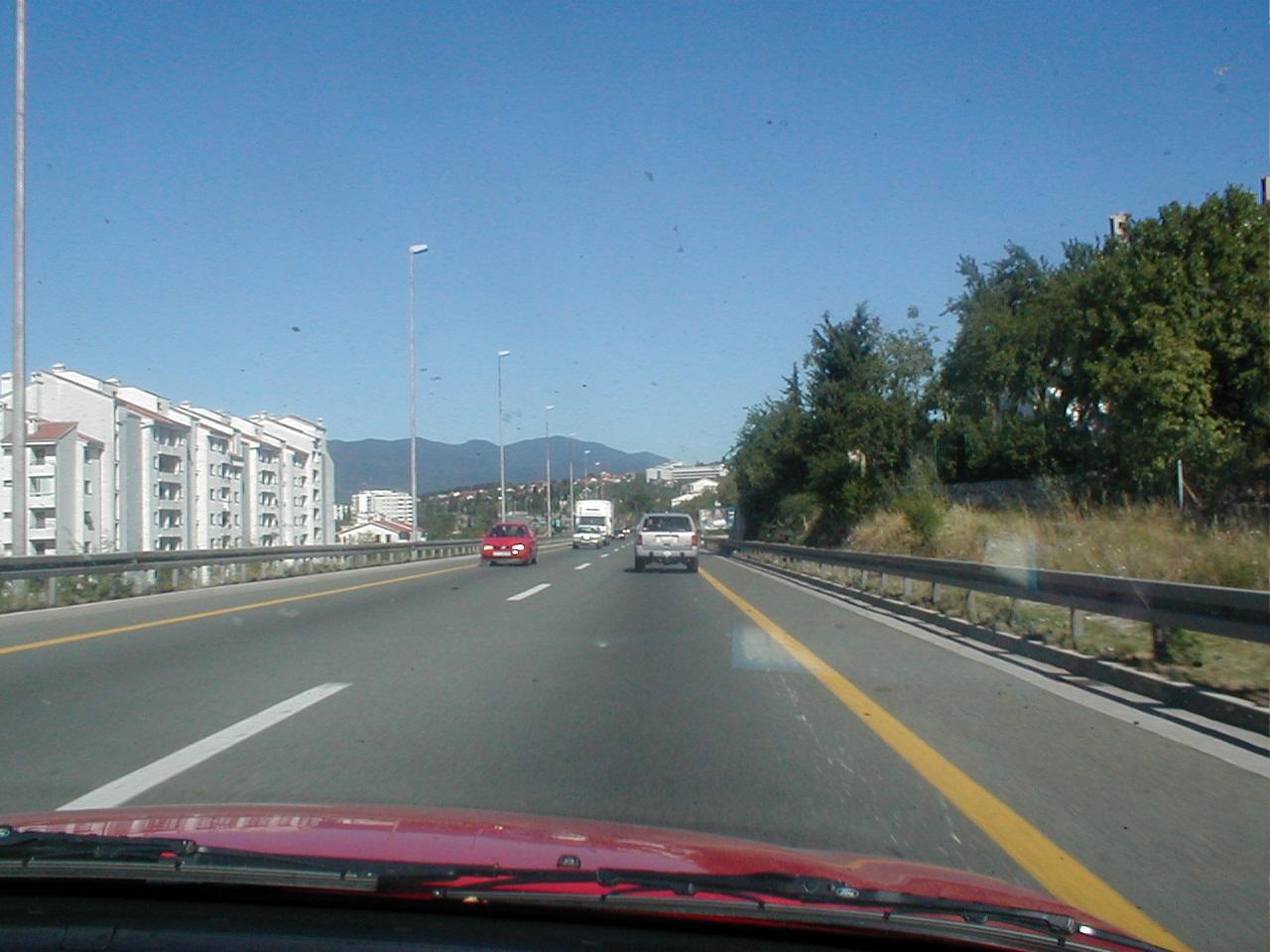 dario road freeway motorway driving car stripes