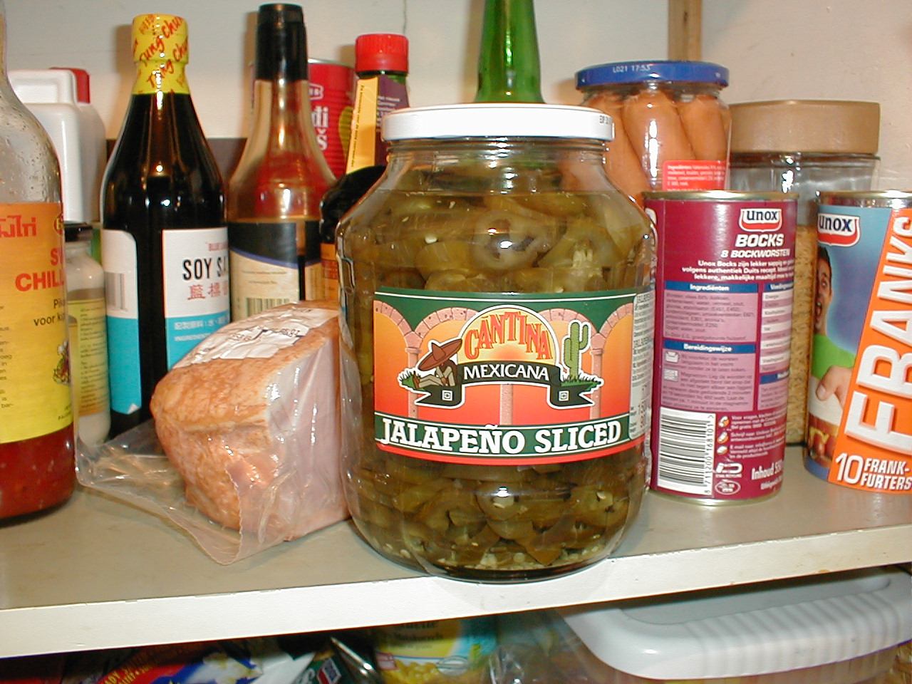 dario food cabin closet store peppers canned grocery