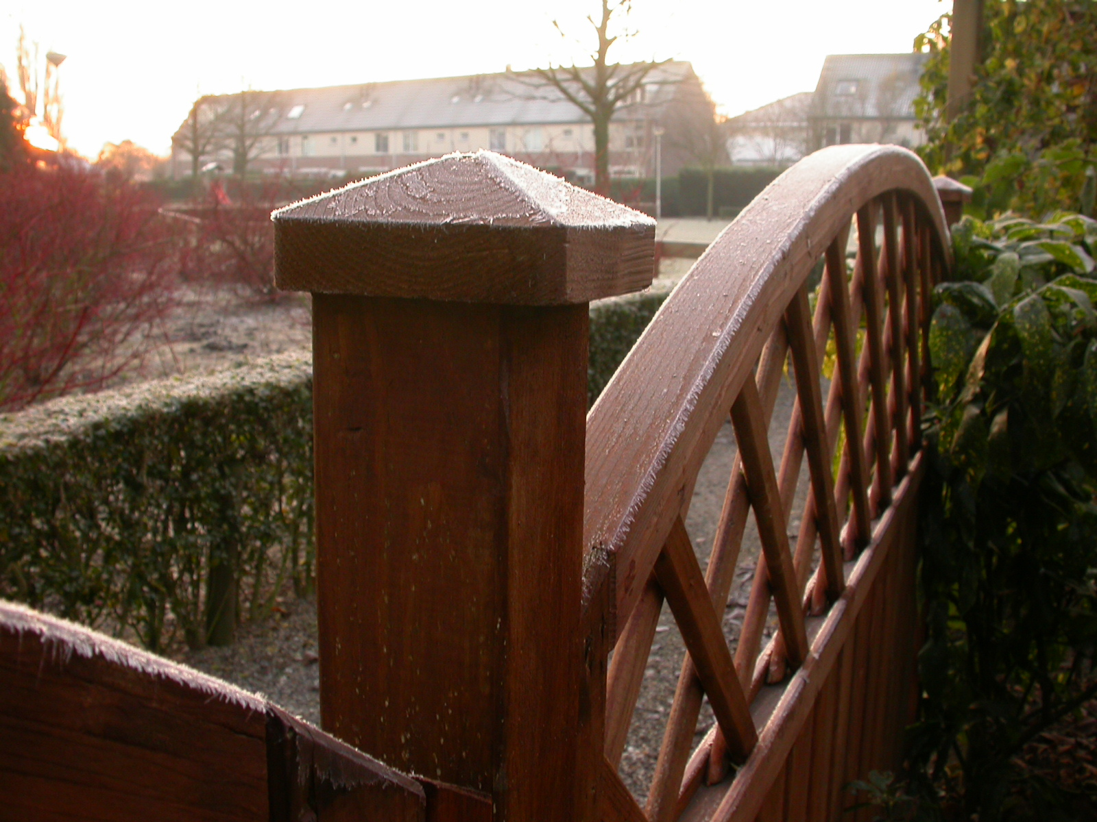 eva fence objects frozen winter wood wooden royalty free