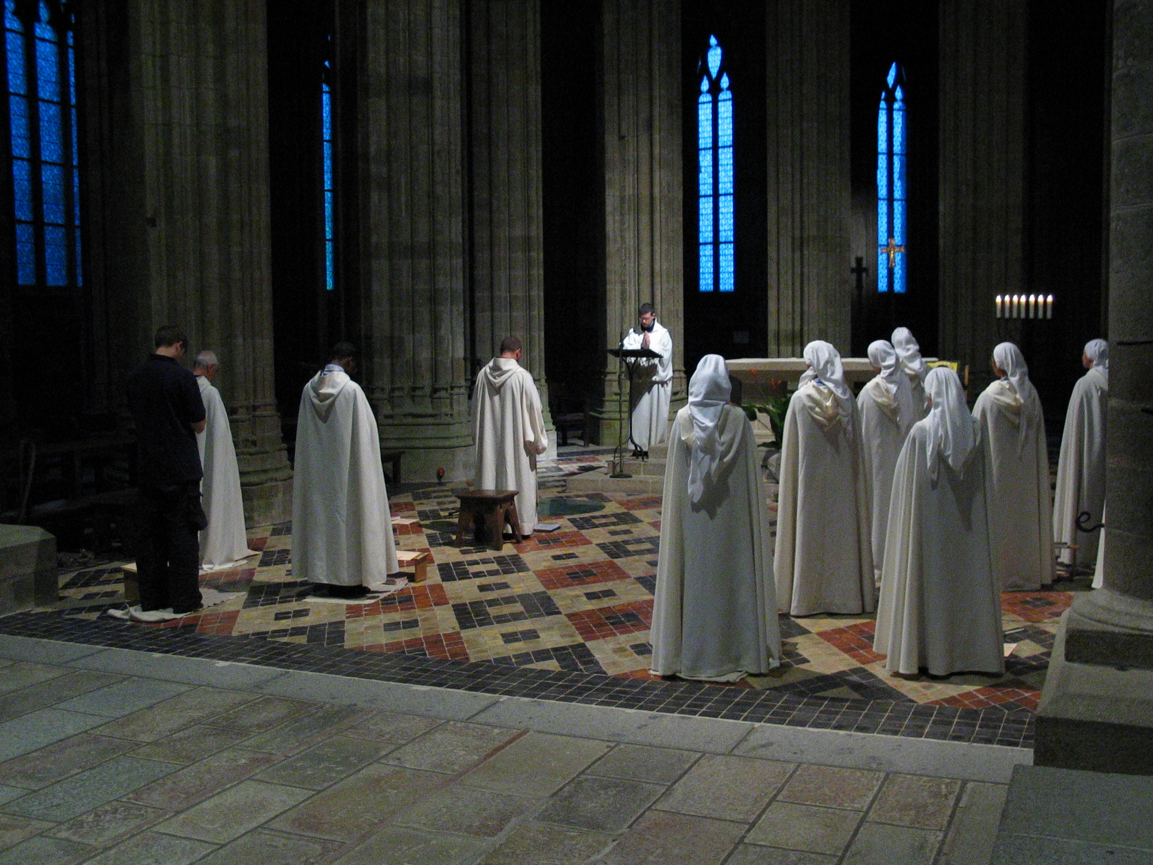 nature characters humanoids cathedral church ceremony monk monks religion priest sermon geoff_vane