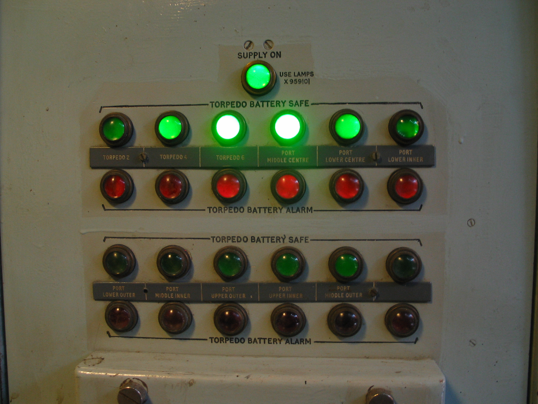 iain torpedo battery save lights panel controls submarine green